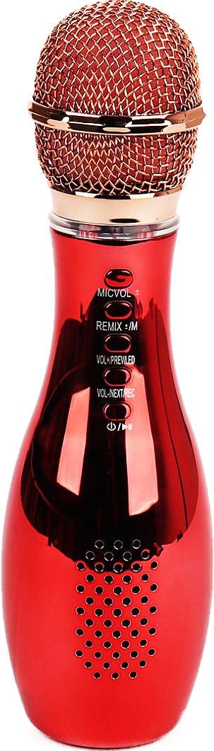 Беспроводной караоке-микрофон Q007 Red