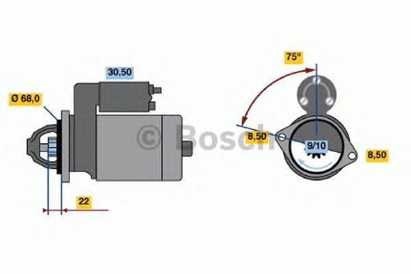 Стартер Bosch 0986017120