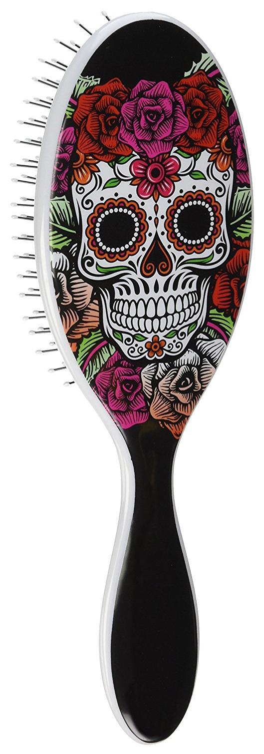 Расческа Wet Brush Sugar Skull Red Rose