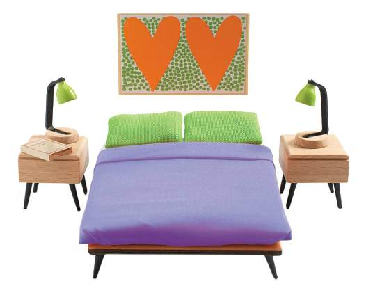 Спальня родителей для кукольного дома Djeco
