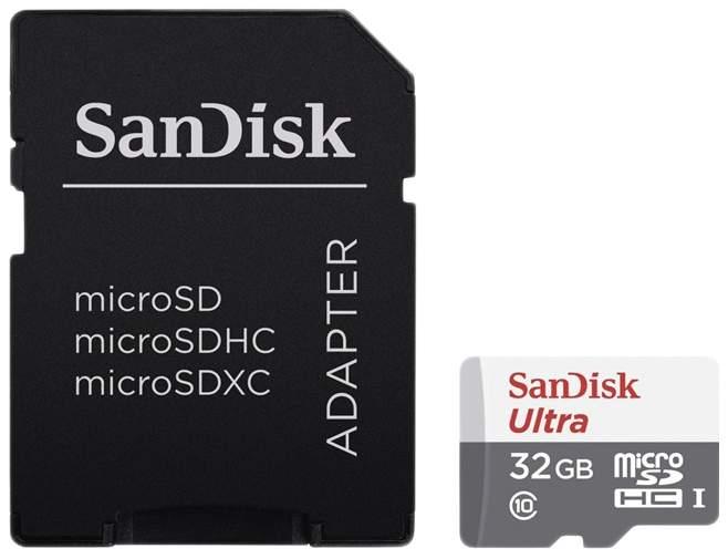 Карта памяти SanDisk Micro SDHC Ultra SDSQUNS-032G-GN3MA 32GB