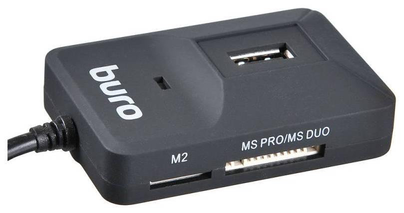 Устройство для чтения карт памяти Buro BU-CR/HUB3-U2.0-0688 389746 Черный