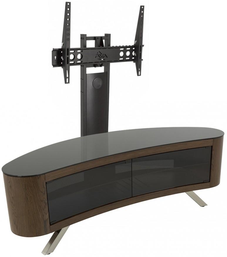 Тумба под телевизор приставная AVF FS 15 BAYXW + FL602 150х45х127 см, коричневый