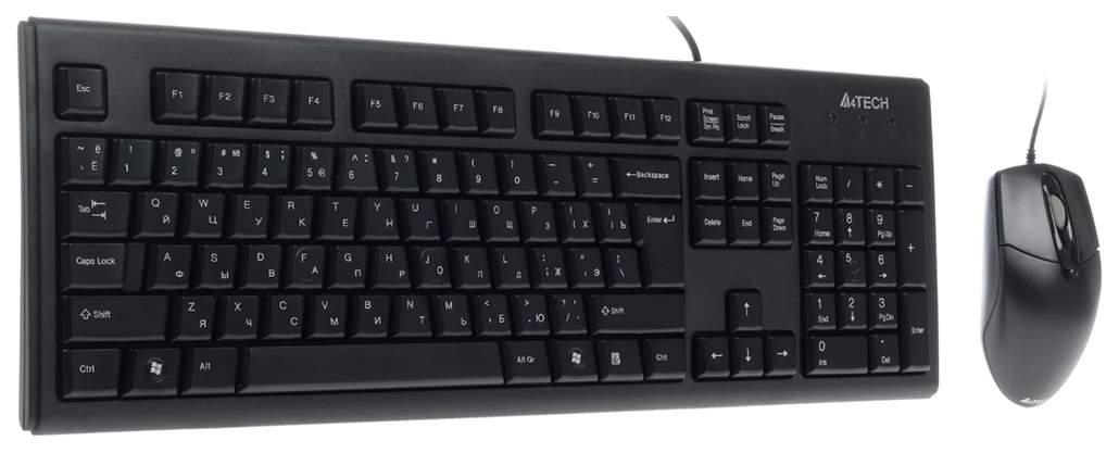 Комплект клавиатура и мышь A4Tech KRS-8372