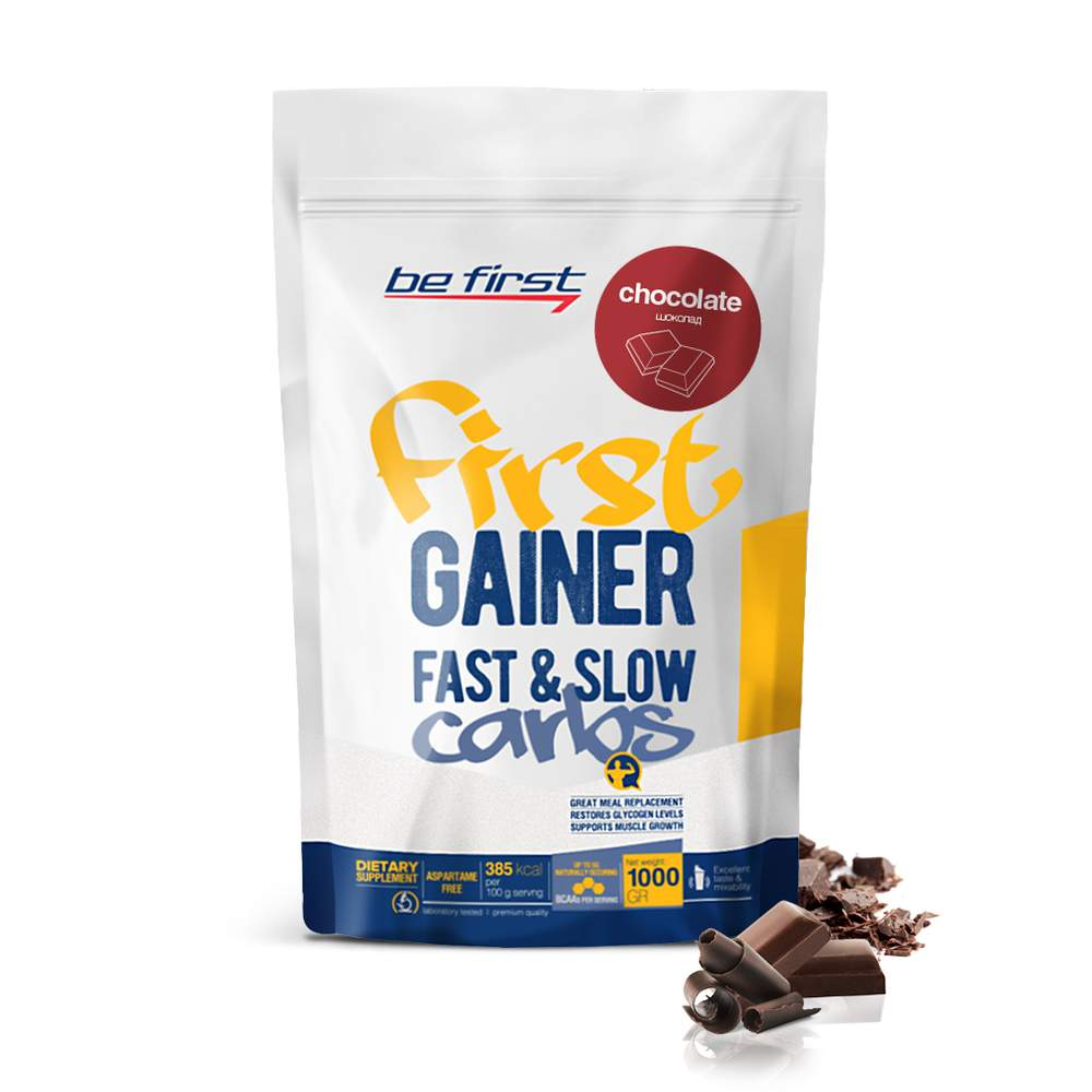Гейнер Be First Gainer Fast & Slow Carbs 1000 г Chocolate