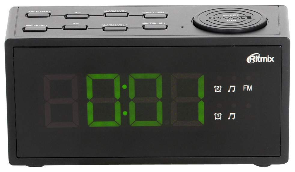 Радио-часы Ritmix RRC-1212 Black