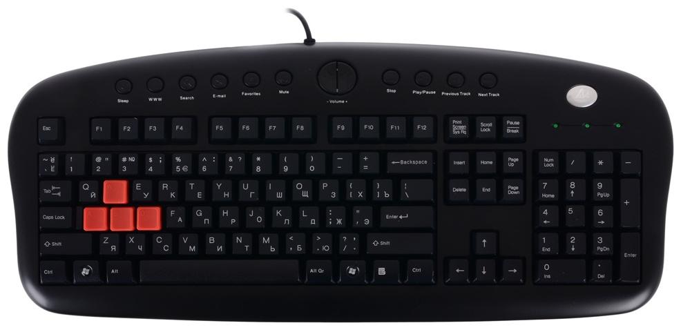 Игровая клавиатура A4Tech KB-28G-1 Black