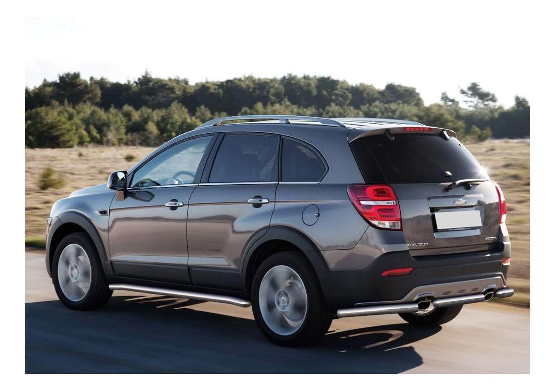 Защита порогов RIVAL для Chevrolet (R.1005.003)