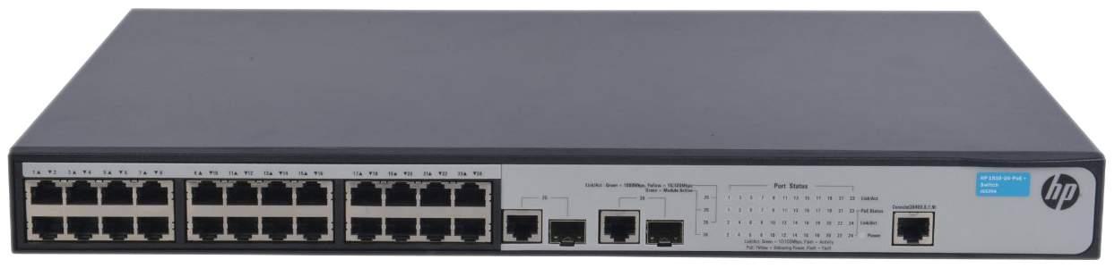 Коммутатор HP OfficeConnect 1910 1910-24-PoE+ JG539A Серый, черный