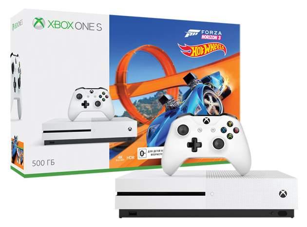 Игровая приставка Microsoft Xbox One S 500Gb White + Forza Horizon 3 + DLC