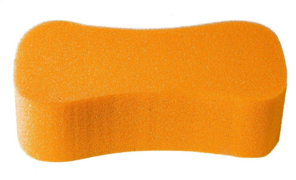 Губка автомобильная Verona, Восьмерка, оранжевая