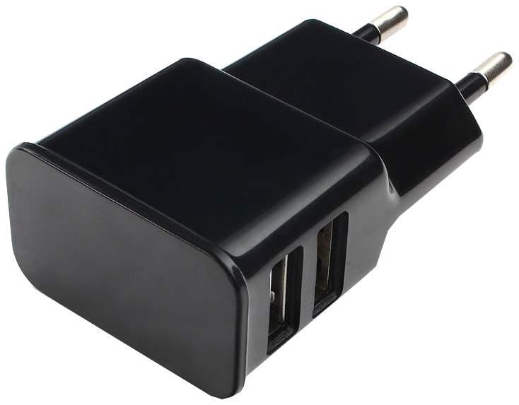 Сетевое зарядное устройство Cablexpert 2 USB 2,1A Black