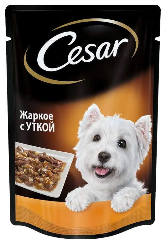 Влажный корм для собак Cesar, жаркое с уткой, 24шт, 100г