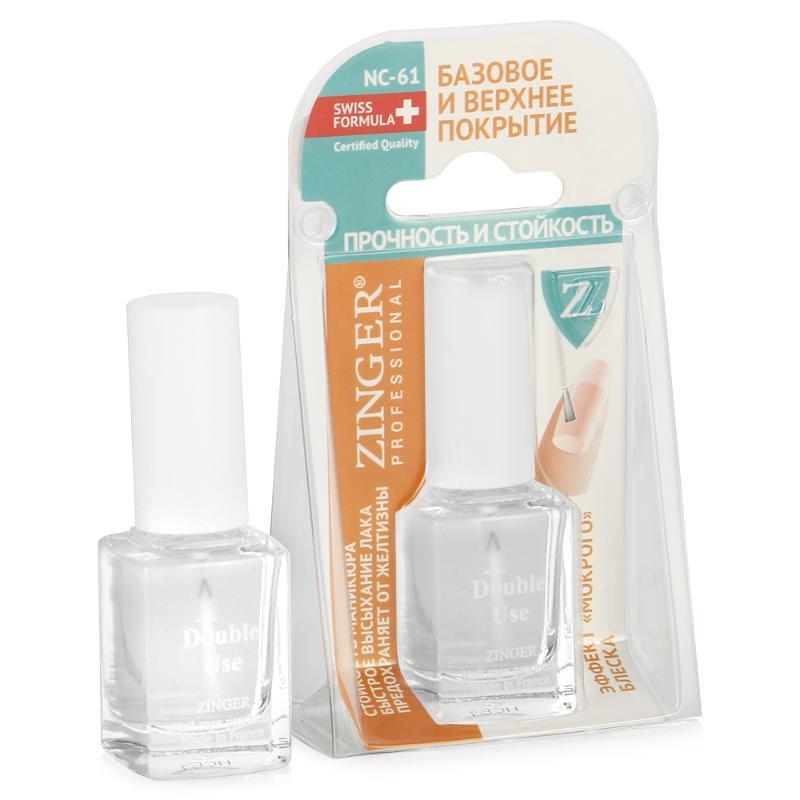 Базовое и верхнее покрытие для ногтей Zinger Professional Прочность и стойкость 12 мл