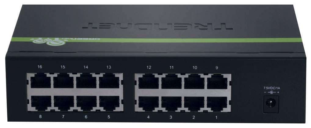 Коммутатор TRENDnet TE100-S16EG Черный