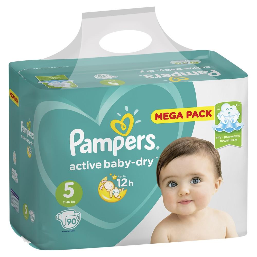 Подгузники Pampers Active Baby-Dry Junior 11-16 кг 90 шт.