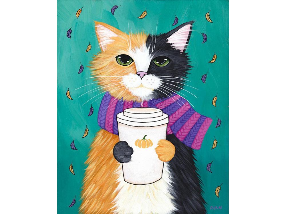 кот и тапки картинки картина по номерам миронова профессиональный
