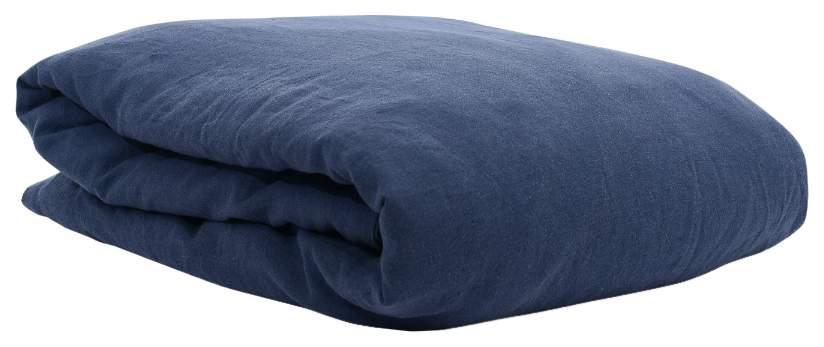 Пододеяльник изо льна темно-синего цвета Essential 150х200