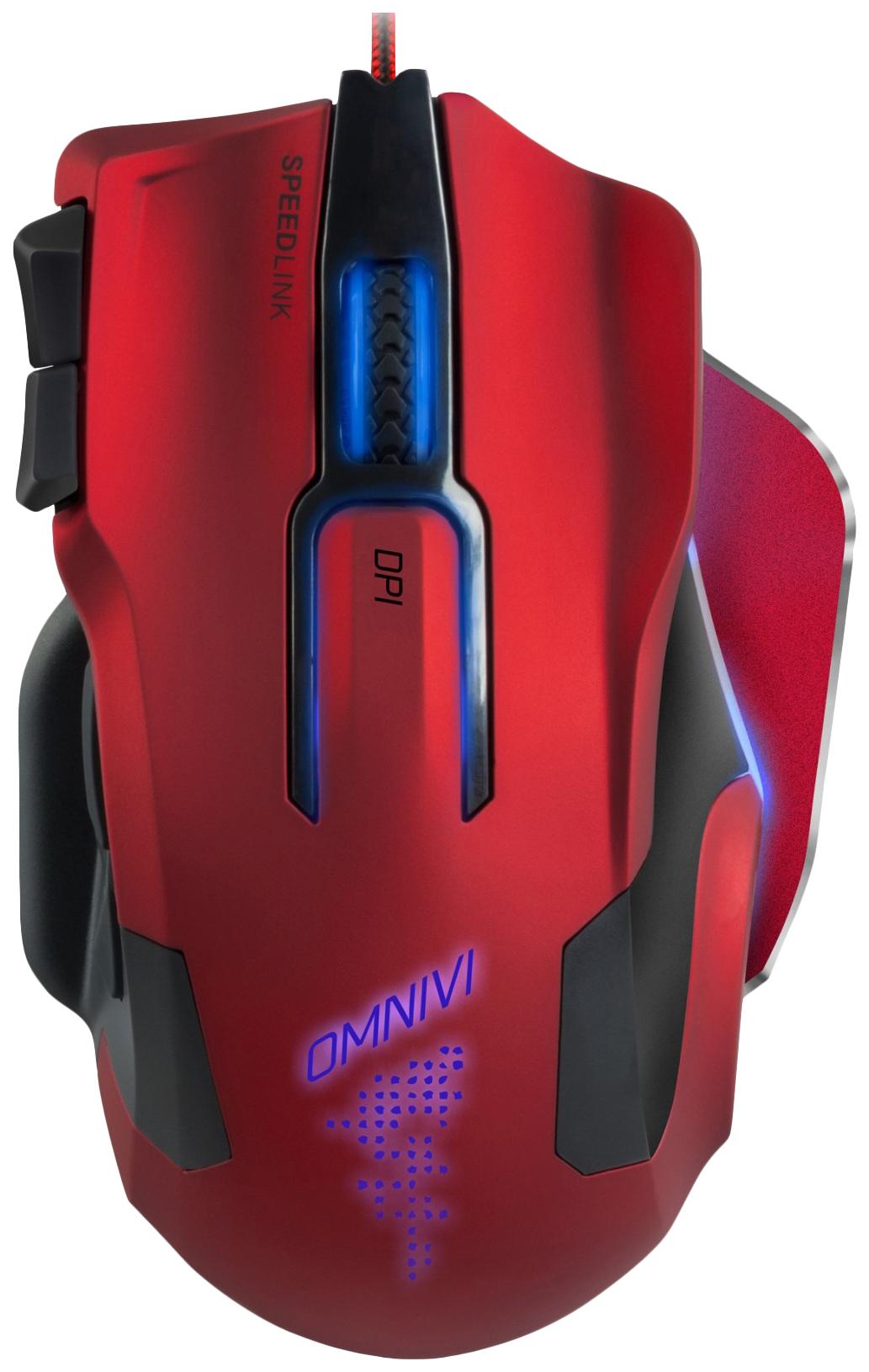 Проводная мышка SPEED-LINK Omnivi Core Red/Black (SL-680006-BKRD)