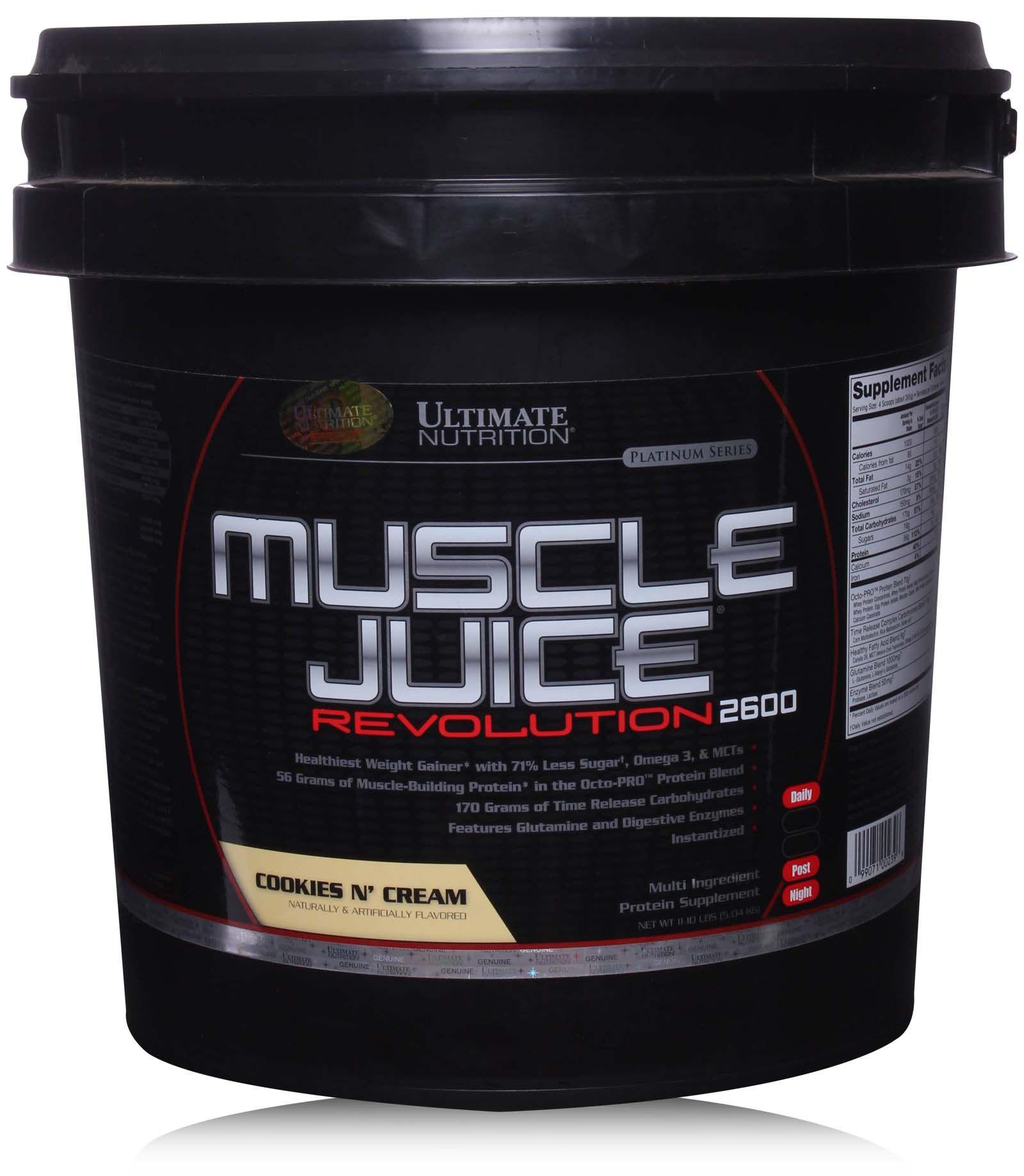 Гейнер Ultimate Nutrition Muscle Juice Revolution 5000 г Cookies & Cream