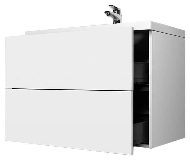 Тумба для комплекта Am.Pm Gem 75 подвесная, белый глянец, с 2 ящиками