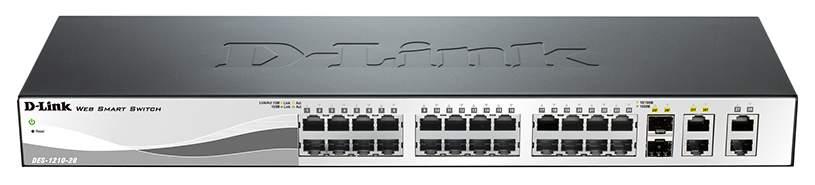 Коммутатор D-Link WebSmart DES-1210-28 Черный