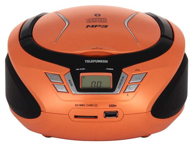 Магнитола TELEFUNKEN TF-CSRP3495B Оранжевый