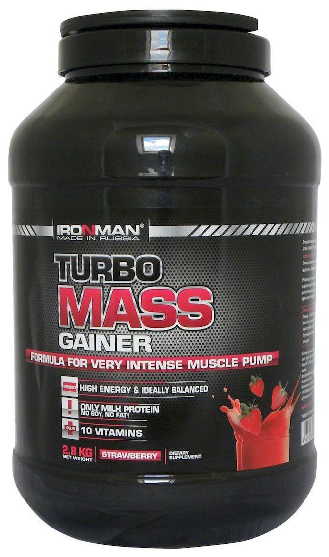 Гейнер Ironman Turbo Mass Gainer 2800 г Strawberry