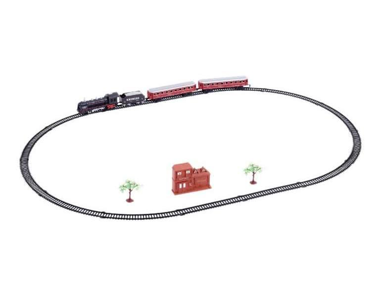 Железная дорога ретро экспресс свет звук 21 деталь 1TOY Т10147