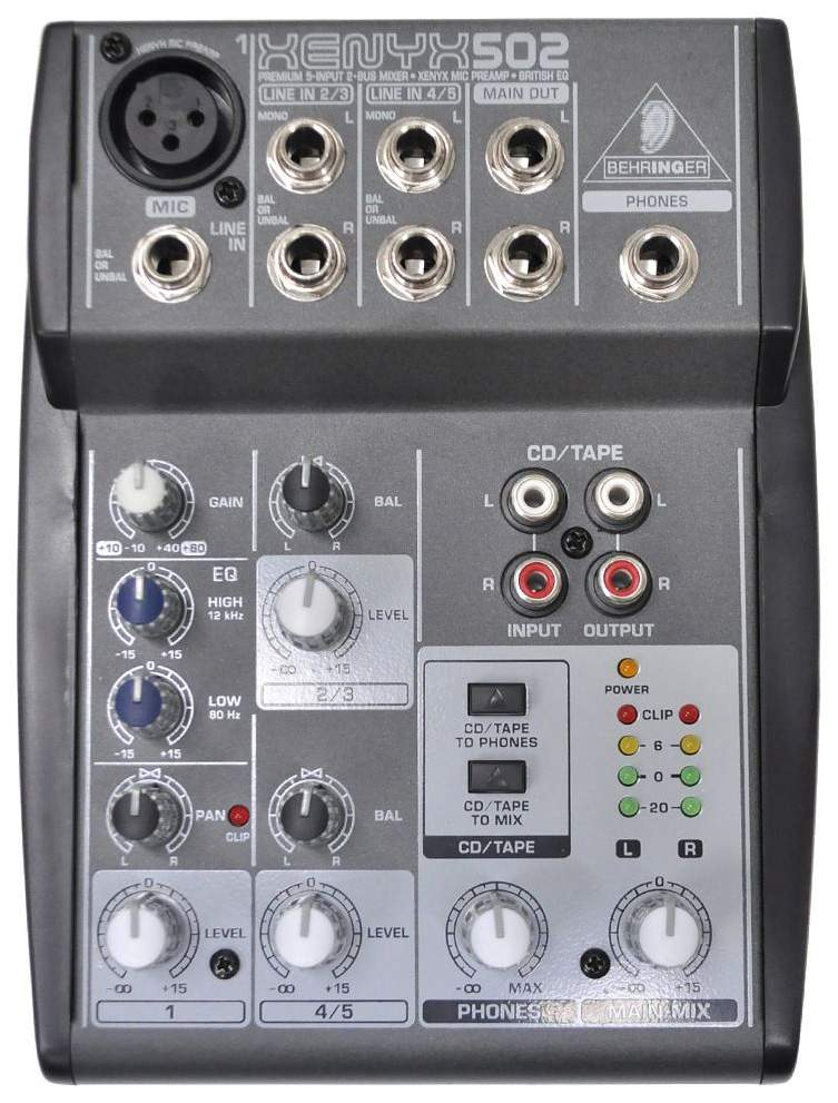 Микшерный пульт Behringer Xenyx 502