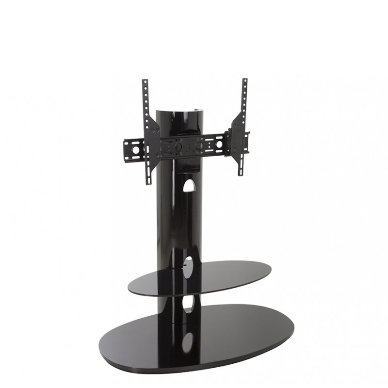 Тумба под телевизор приставная AVF FSL 93 CHEXB 93х56х118 см, черный