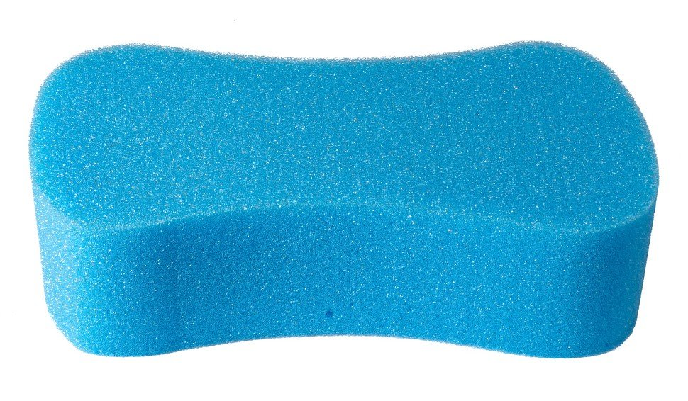 Губка автомобильная Verona, Восьмерка, синяя