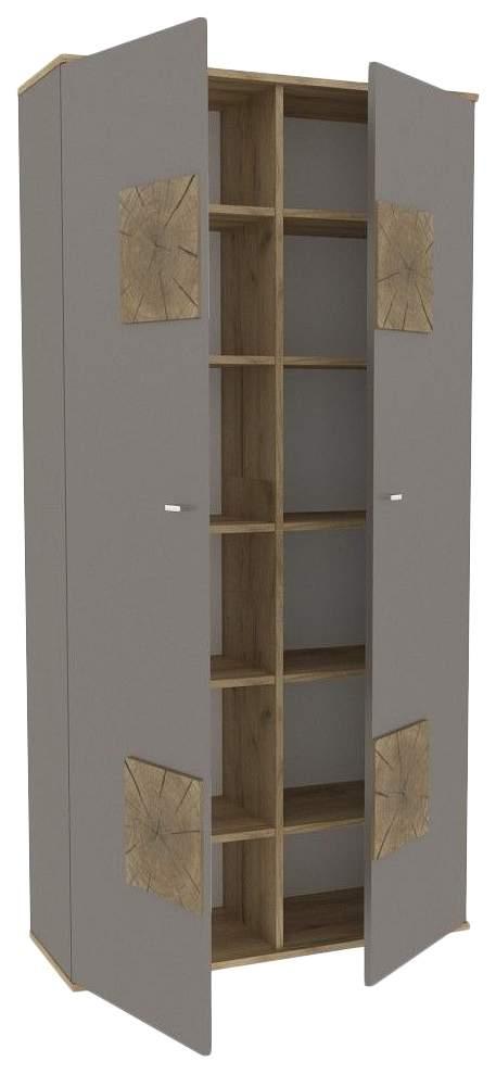 Платяной шкаф Любимый Дом LD_55920 35х92х186, белый/дуб золотой