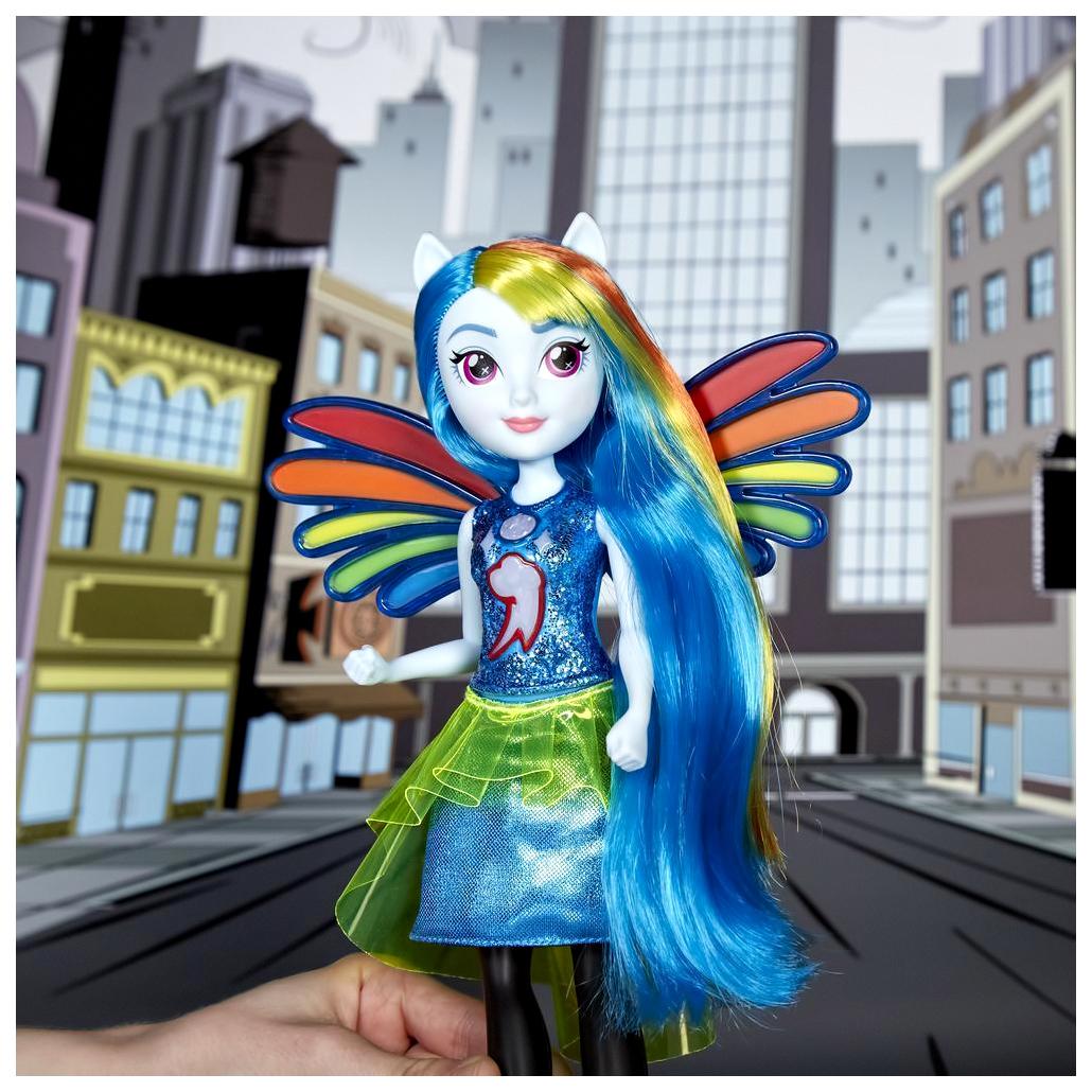 Кукла девушки эквестрии радуга