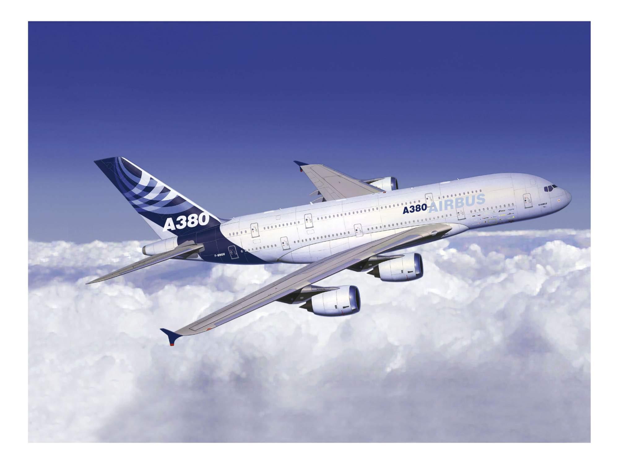 Обои airbus, авиалайнер, Самолёт, a380-800, аэробус, пассажирский. Авиация foto 13