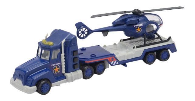 Полицейский грузовик с Вертолетом Mighty Wheels Soma, 28 см