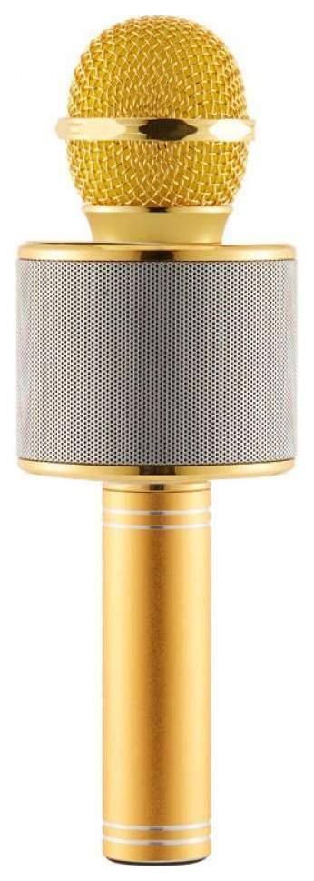 Микрофон-караоке Wster WS 858 Золотистый