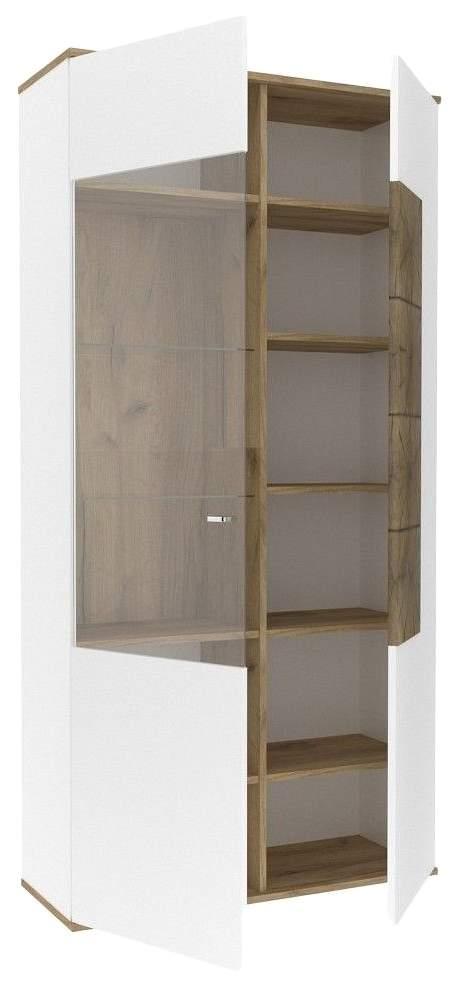 Платяной шкаф Любимый Дом LD_55957 35х92х186, белый/дуб золотой