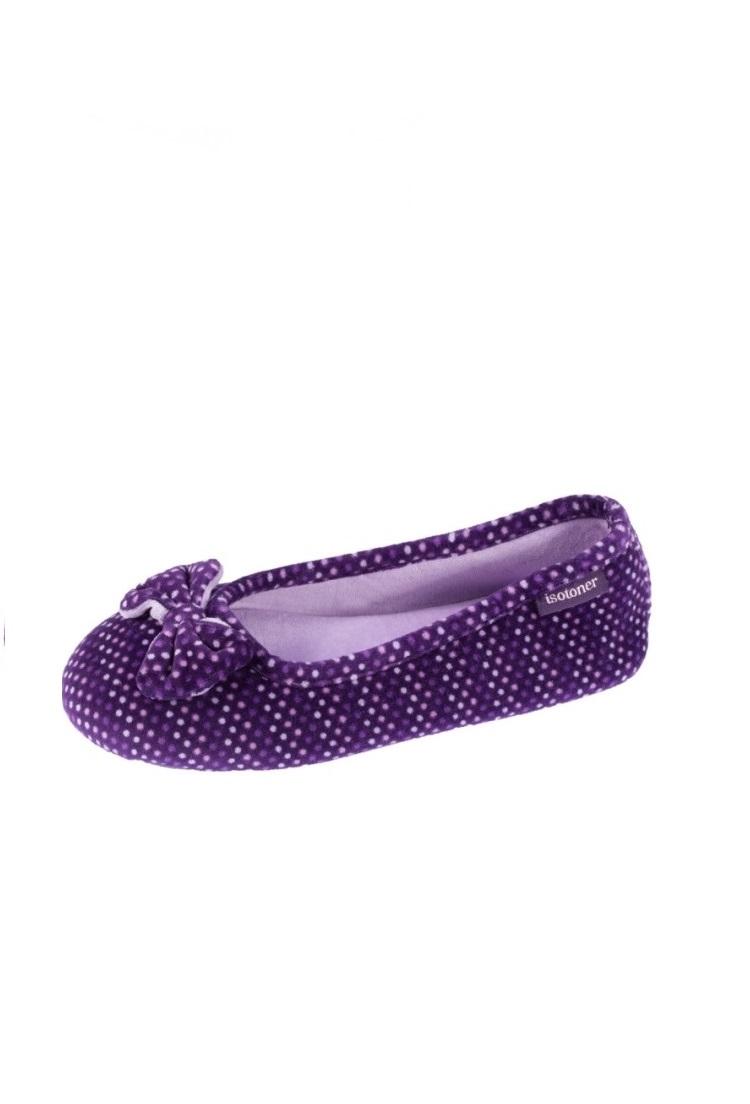 Домашние тапочки женские Isotoner 93456 фиолетовые 36-37 RU