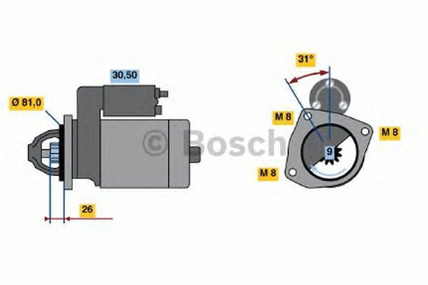 Стартер Bosch 0986018960