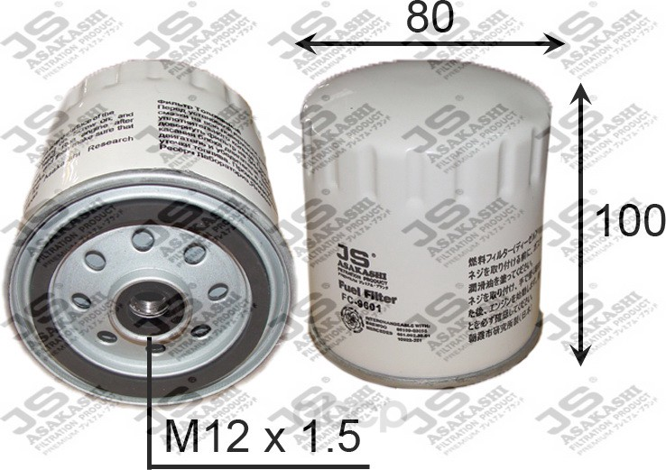Фильтр топливный mb/ssangyong diesel JS Asakashi арт. FC9601