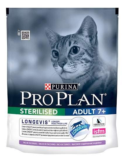 Сухой корм для кошек PRO PLAN Sterilised Adult 7+, индейка, 0,4кг