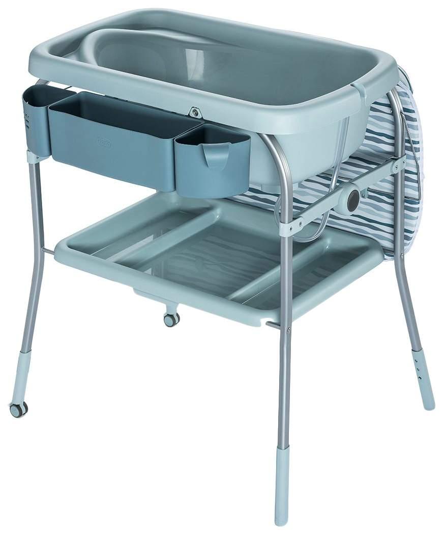 Пеленальный столик с ванночкой Chicco Cuddle & Bubble Comfort Silver Wild