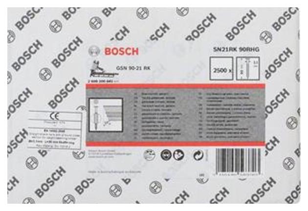 Гвозди для электростеплера Bosch GSN 90-21 RK, SN21RK 90RH 2608200041