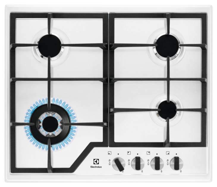 Встраиваемая варочная панель газовая Electrolux GPE363MW White
