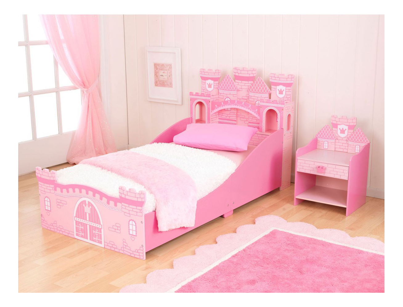 Картинка розовой кроватки
