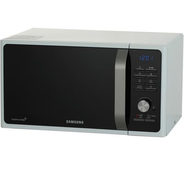 Микроволновая печь с грилем Samsung MG23F301TQW black/white