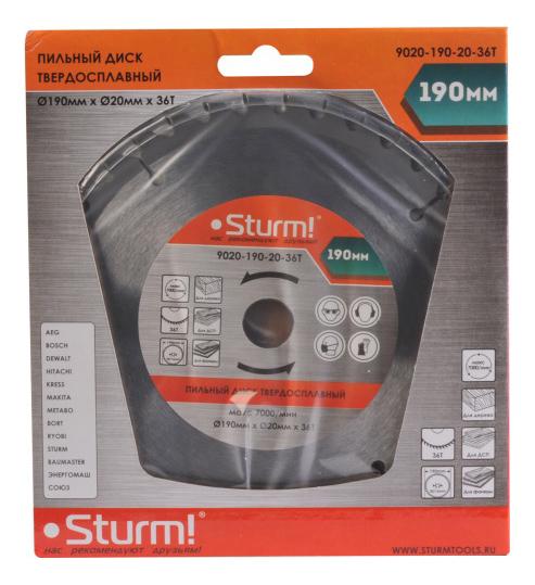 Диск по дереву для дисковых пил Sturm! 9020-190-20-36T