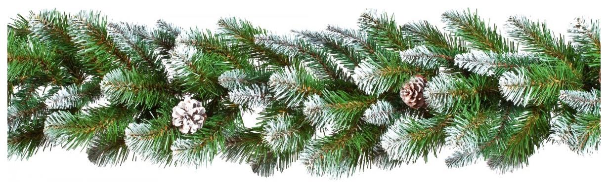 Triumph Tree хвойная гирлянда Императрица заснеженная с шишками 180х33 см