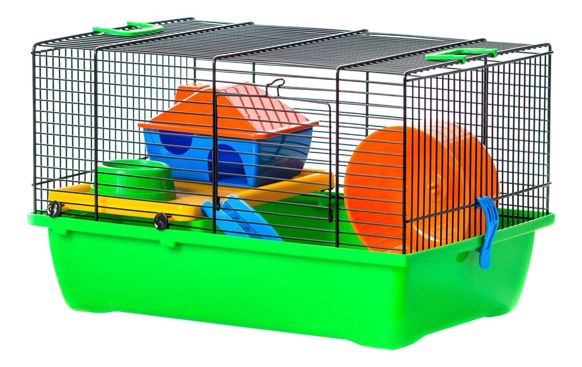 Клетка для крыс, морских свинок, мышей, хомяков INTER-ZOO 28х23.5х43см